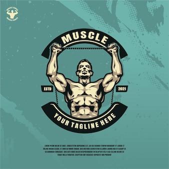 Ilustración de modelo de fitness culturista