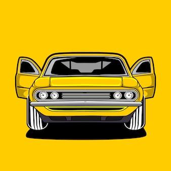 Ilustración moderna del coche deportivo, ford mustang