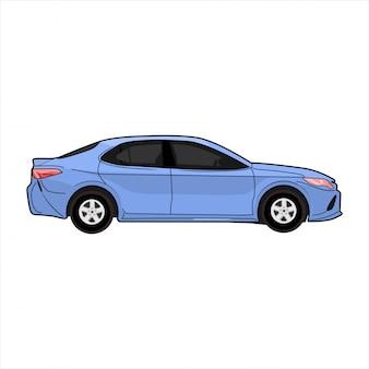 Ilustración moderna del coche del salón