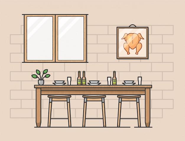 Ilustración moderna de cocina
