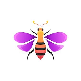 Ilustración moderna colorida abeja
