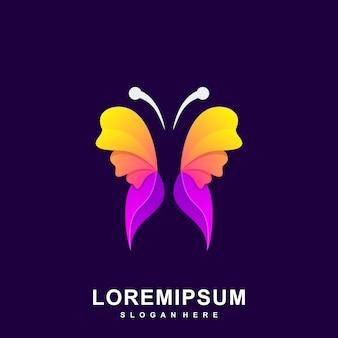 Ilustración moderna colorida mariposa abstracta