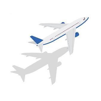 Ilustración moderna del transporte aéreo isométrico