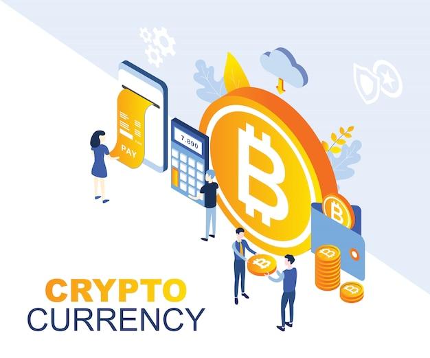 Ilustración de moneda criptográfica
