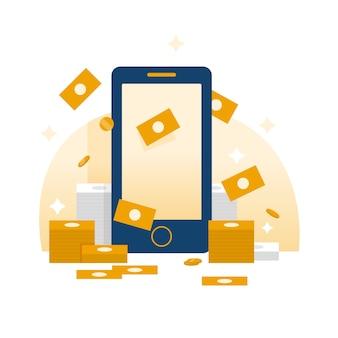 Ilustración de monetización móvil