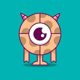 Ilustración de monstruo de dibujos animados