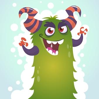 Ilustración de monstruo divertido de dibujos animados