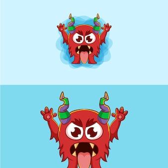 Ilustración de monstruo espeluznante