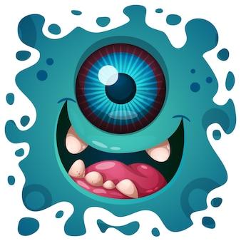 Ilustración de monstruo loco