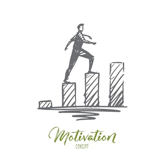 Ilustración de motivación dibujada a mano