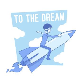 A la ilustración de la motivación del sueño
