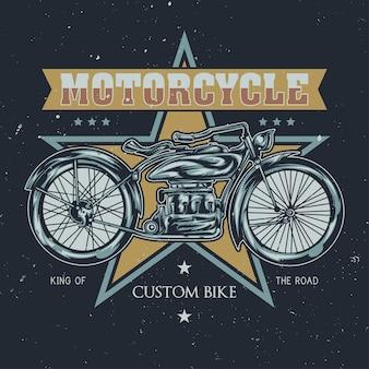 Ilustración de motocicleta clásica