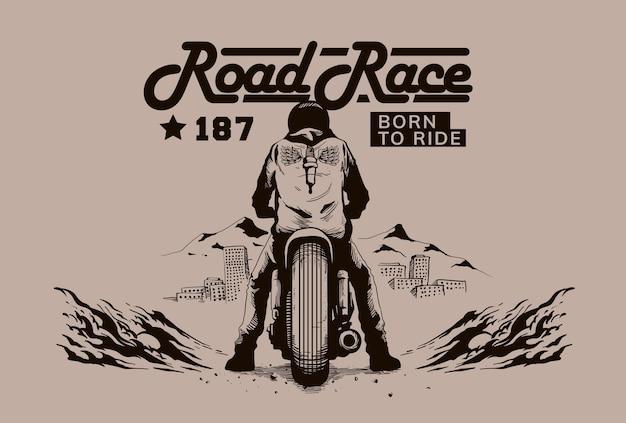 Ilustración de la motocicleta