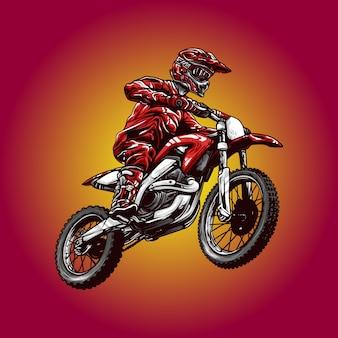 Ilustración de motocross