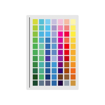 Ilustración de muestra de color