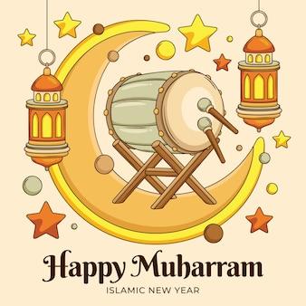 Ilustración de muharram de dibujos animados