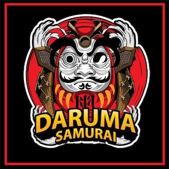 Ilustración de la muñeca tradicional daruma en japón