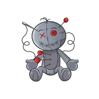 Ilustración de muñeco vudú