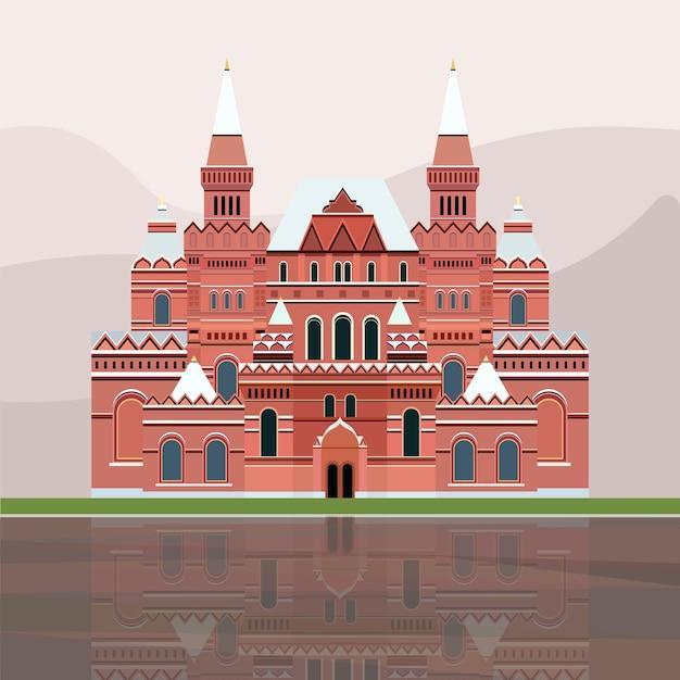 Ilustración del museo histórico estatal de rusia