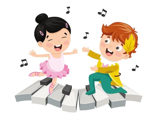 Ilustración de la música infantil