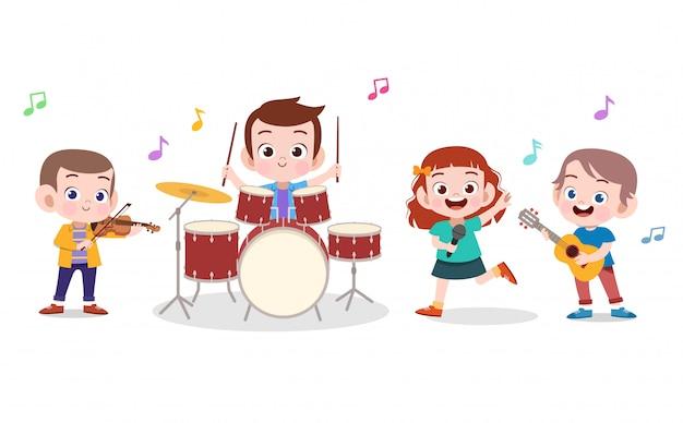 Ilustración de música para niños