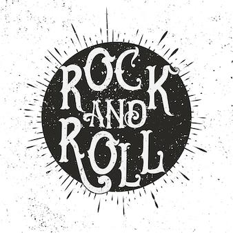 Ilustración de música rock monocromática