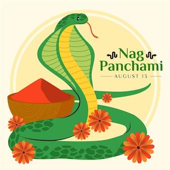 Ilustración de nag panchami