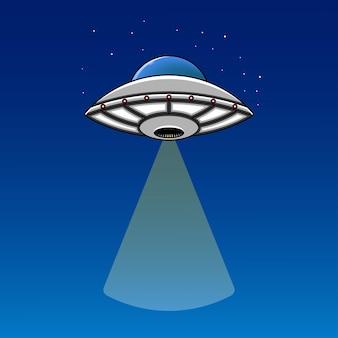 Ilustración de nave espacial ovni alienígena