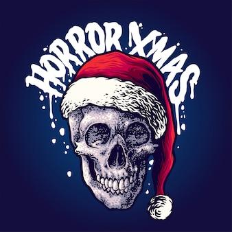 Ilustración de navidad de horror