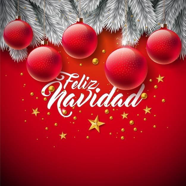 Felicitaciones De Navidad En Castellano.Feliz Navidad Espanol Fotos Y Vectores Gratis
