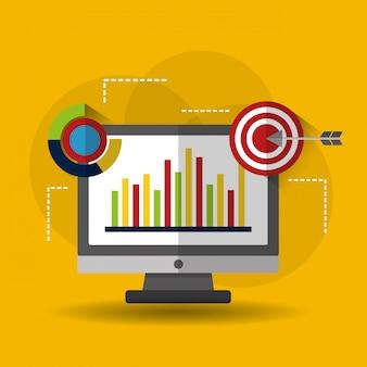 Ilustración de negocio de análisis de datos estadísticos