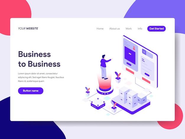 Ilustración de negocio a negocio para páginas web