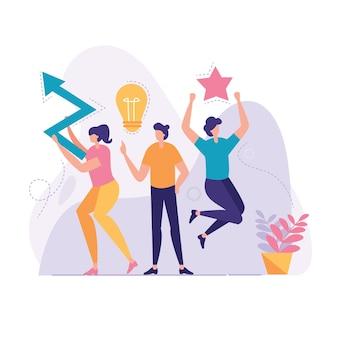 Ilustración de negocios de innovación