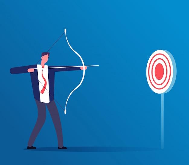 Ilustración de negocios objetivo