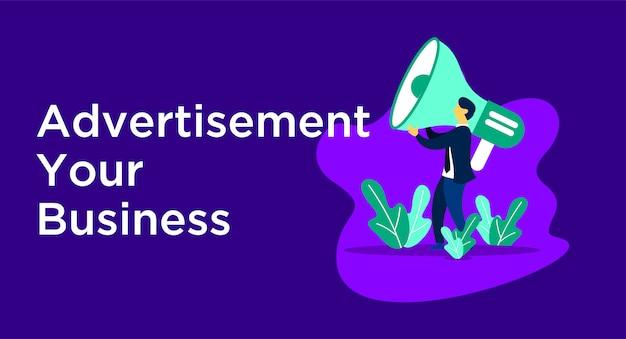 Ilustración de negocios de publicidad