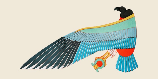 Ilustración de nekhbet egipcio antiguo