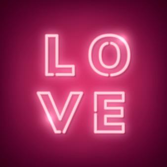 Ilustración de neón amor