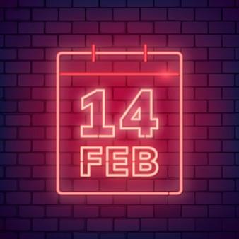 Ilustración de neón día de san valentín