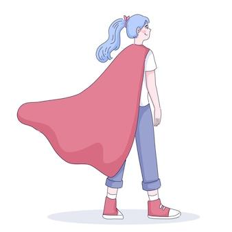Ilustración de niña super pequeña