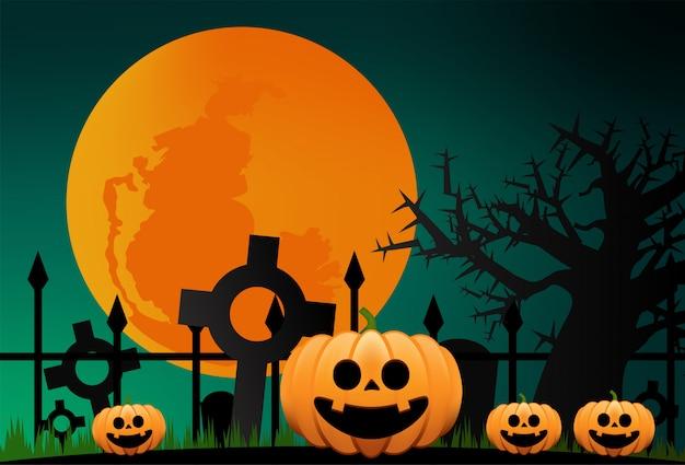 Ilustración de la noche de halloween