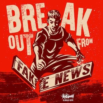 Ilustración de noticias falsas