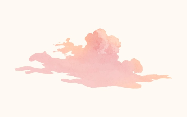 Ilustración de nube vintage