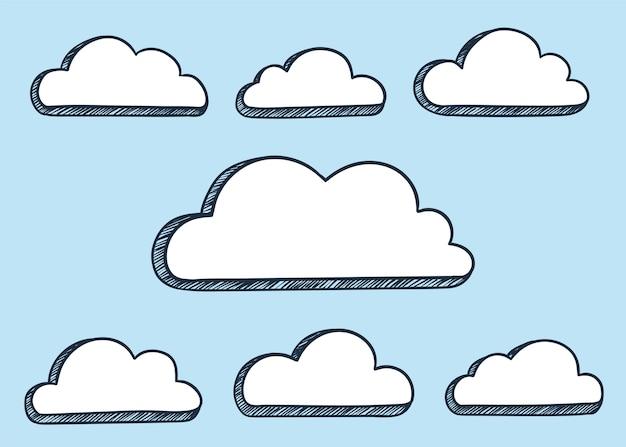 Ilustración de nubes
