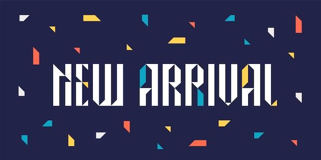 Ilustración de nueva llegada para minoristas y tiendas.