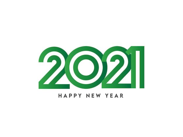 Ilustración del número verde 2021