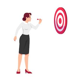 Ilustración de objetivos ambiciosos mujer establecer
