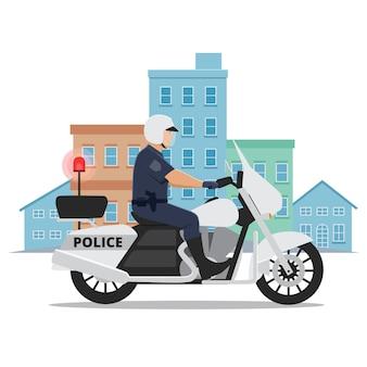 Policia Motocicleta Fotos Y Vectores Gratis