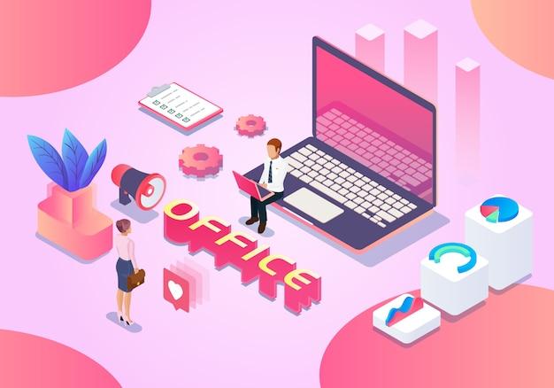 Ilustración de la oficina de negocios