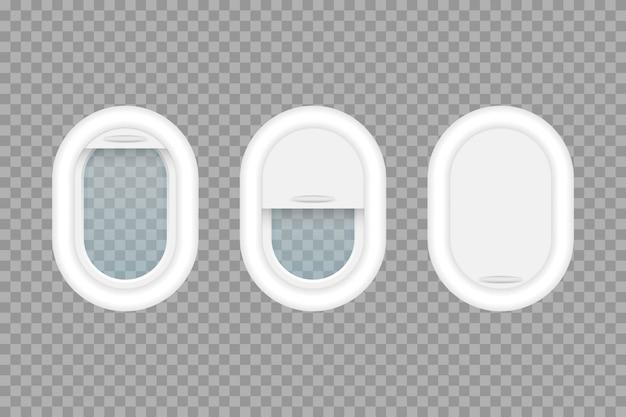 Ilustración de ojo de buey de avión aislado sobre fondo transparente