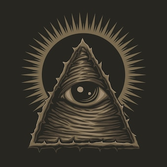Ilustración de un ojo illuminati